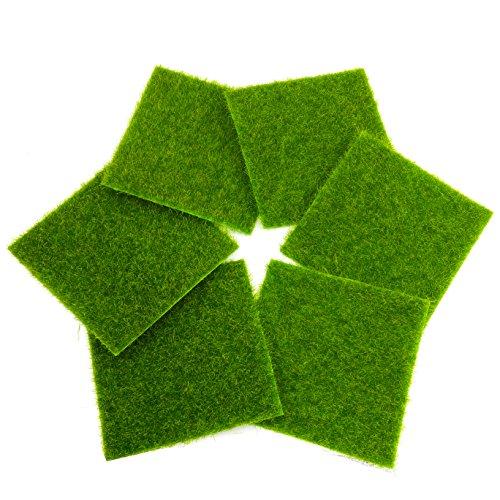 (HH-Eason 6 pcs Micro landscape creativity simulation bryophyte Eco bottle DIY decoration Lawn moss Furniture decoration)