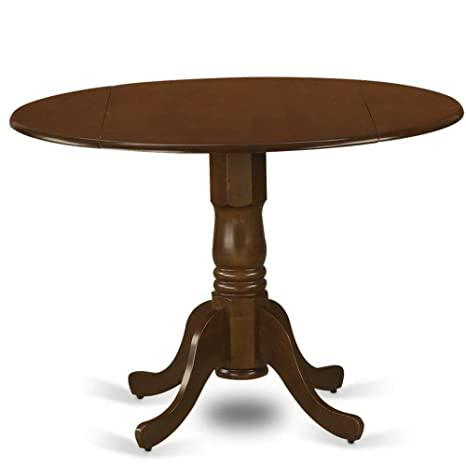 Amazon.com - Expanding Dining Table Round Dropleaf Espresso ...
