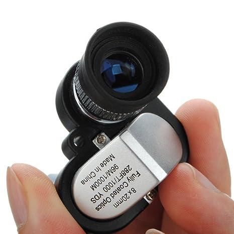 SUNXIN 60X Zoom LED Microscope Micro Lens New Silver