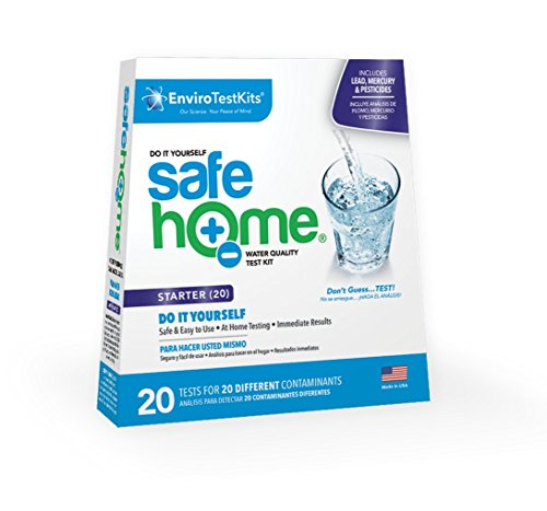 Safe Home STARTER-20 Water Quality Test Kit - (DIY Testing for 20 Different Contaminants)