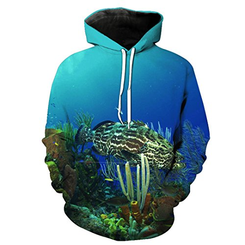 Fashion 3D Hoodie Print Animal Sole Fish Salmon Slim Unisex Slim Hoodie 2201 M ()