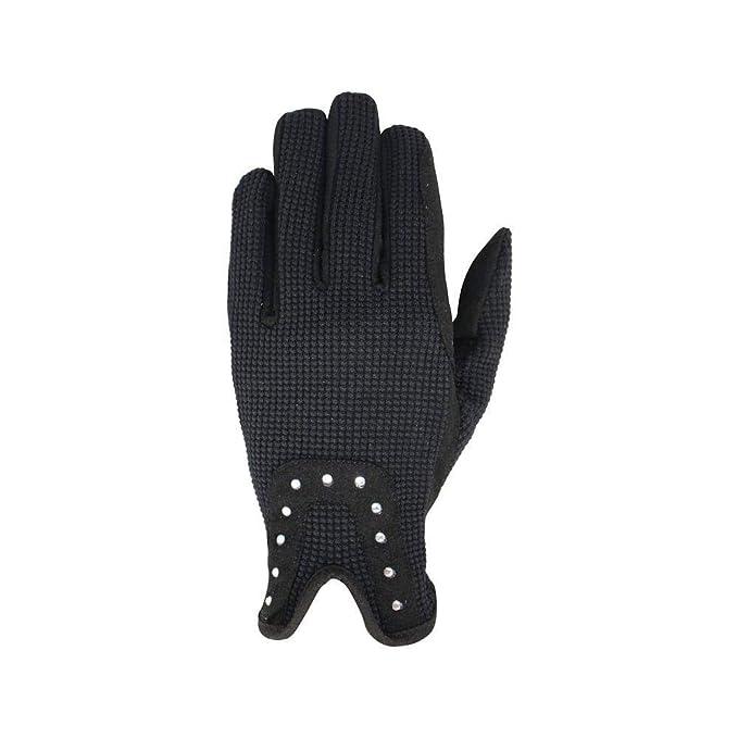 XS Black//Rose Gold Hy5 Adults Roka Riding Gloves