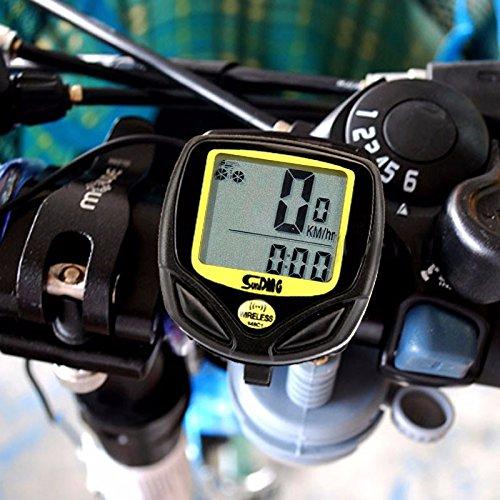 Wireless yellow Bicycle Cycling Bike Computer Speedometer Odometer Meter Bicycle Computer
