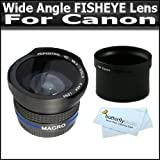 0.43X Wide Angle FISHEYE Lens WIth Macro For Canon Powershot G10 G11 G12 With Tube Adapter