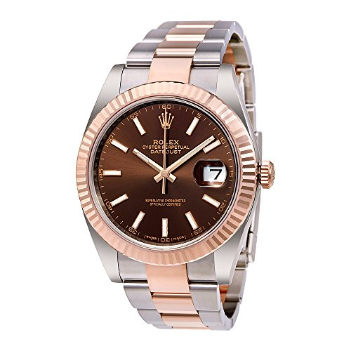 Rolex Datejust 41 Chocolate Dial Steel and 18K Everose Gold Mens Watch 126331CHSO