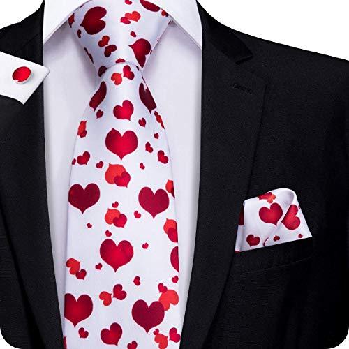 Valentine's Day Tie, Cufflinks and Pocket Square Set