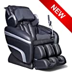 Osaki OS-6000A Deluxe ZERO GRAVITY Massage Chair, Black, Synthetic Leather, Designed with a set of S-track movable intelligent massage robot , special focus on the neck, shoulder and lumbar massage according to body curve, Automatically detect the whole body curve as well as make micro adjustments, Thai style body stretching massage function, MP3 player with music sync, LCD displayer with wireless mini controller, Designed with six unique auto-programs: Healthcare, Relax, Therapy, Smart, Circulation and Demo, Automatic massage for the upper body (shoulder, neck, back and lumbar), the low body (buttock, thigh, calves and feet)