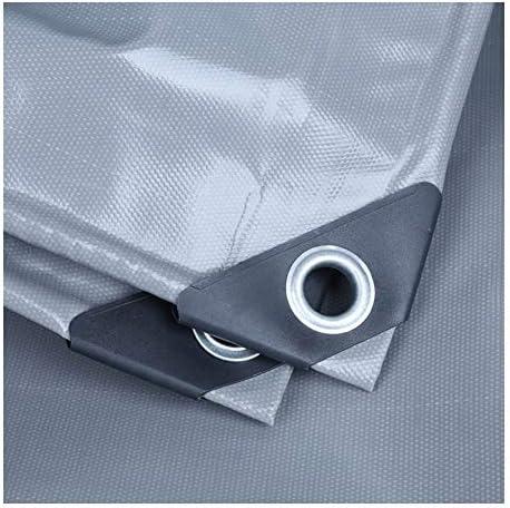 FQJYNLY 防水シート強化アイレットPVC厚さ高品質ハイシェッド屋外キャンプ、17サイズ (Color : Gray, Size : 4x4m)