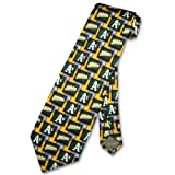 OAKLAND ATHLETICS A's SILK NeckTie MLB Baseball Men's Pattern Neck Tie