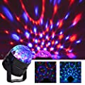 Lezoey LED Party Lights Disco Ball Dj Lights with Remote Sound Activated Strobe Lights Party Ball Light LED Stage Lamp for Birthday DJ Kids Xmas Club Karaoke Wedding