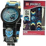 LEGO Ninjago Hands of Time Nya Kids Minifigure Link Buildable Watch   blue/black  plastic   28mm case diameter  analogue quartz   boy girl   official