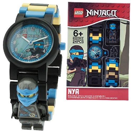 Sconosciuto LEGO Ninjago Hands of Time Nya Kinder,Wecker mit Minifigur und  Hintergrundbeleuchtung
