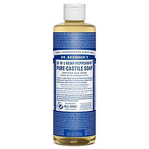 (Dr. Bronner's Pure-Castile Liquid Soap - Peppermint 16oz.)