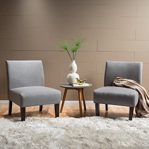 Christopher Knight Home Kendal Grey Fabric Accent Chair Set of 2