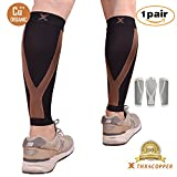 Thx4 Copper Calf Compression Sleeve(20-30mmHg) for Men & Women, Shin Splint Leg Compression Calf Sleeve- Great for Running, Cycling, Travelling- Improve Circulation and Recovery-Small/Medium