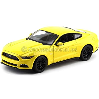Ford 2015 Mustang GT 5.0 Yellow 1/18 by Maisto 31197: Toys & Games [5Bkhe2001450]
