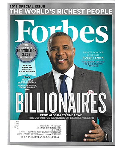 Forbes magazine March 31 2018{Billionaires issue} {postal label on front} ()
