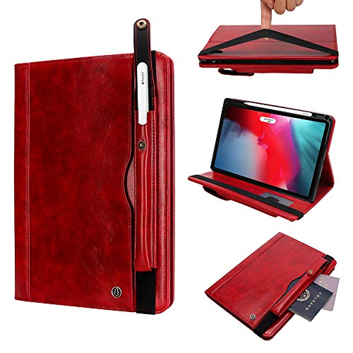 Vacio iPad Pro 11 inch Case,Support Apple Pencil(2rd Gen) Charging Case Lightweight Cover Slim Sleeve Case iPad case Also Fit iPad Pro 11 2018, Red