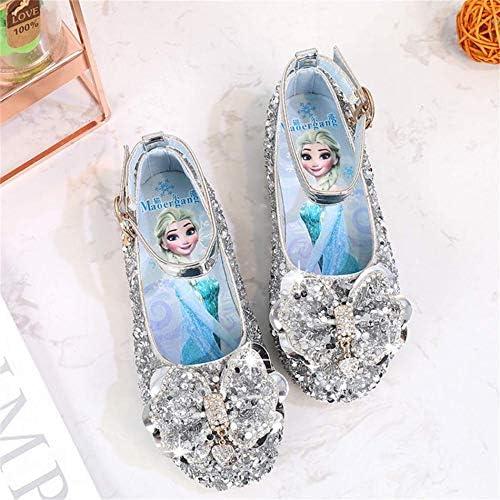 LOBTY Enfant Sandales B/éb/é Chaussure Sandales Scratch Ferm/é Chaussure d/ét/é Ballerine Princesse Paillettes D/éguisement Halloween Cendrillon Raiponce