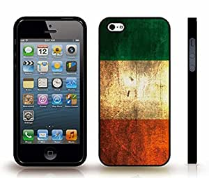 iStar Cases? iPhone 4 Case with Irish Flag Antique Grunge Look Design , Snap-on Cover, Hard Carrying Case (Black)