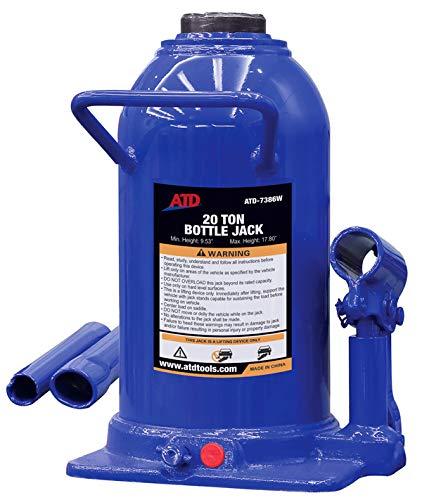 20 Ton Side Pump Bottle - ATD Tools 7386W 20 Ton Heavy-Duty Hydraulic Side Pump Bottle Jack