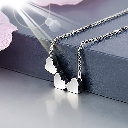 Werrox 3 Colors Women Jewelry Three Heart Charm Chain Necklace Pendant Stainless Steel | Model NCKLCS - 22799 | (Phone Charm Zelda)