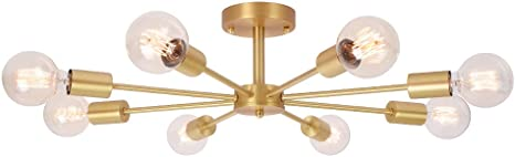 Image of OYIPRO Moderno Lámparas de araña Iluminación de techo Portalampada E27 para la sala de estar dormitorio Cafe (Sin bombilla)           [Clase de eficiencia energética A]