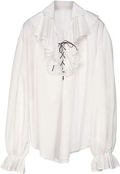 Horror-Shop Camisa Pirata Renacentista Blanca XL: Amazon.es: Juguetes y juegos