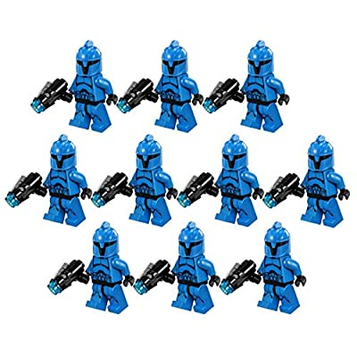 10 New Lego Star Wars Senate Commando Trooper Minifig Lot 75088 Grunt Blue Clone: Toys & Games