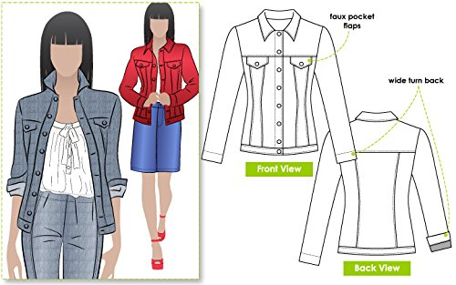 Patterns Jeans Denim - Style Arc Sewing Pattern - Stacie Jean Jacket (Sizes 04-16) - Click for Other Sizes Available