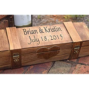Amazon Com Darice Unfinished Wooden Wine Box Hinged With
