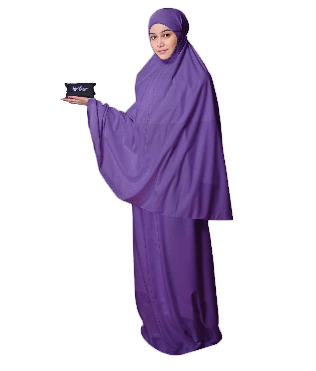 Muslim Women's Prayer Dress Pocket-Size Hijab Scarf Skirt Islamic Abaya by AJAR