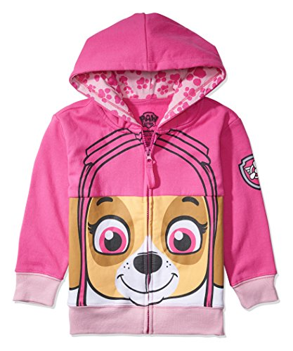 Nickelodeon Toddler Paw Patrol Character Big Face Costume Zip-up Hoodies (4T, Sky)
