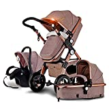 European Baby Stroller 3 in 1 - Baby Pushchair - High Landscape Fold Strollers for Children Travel System - Prams for Newborns