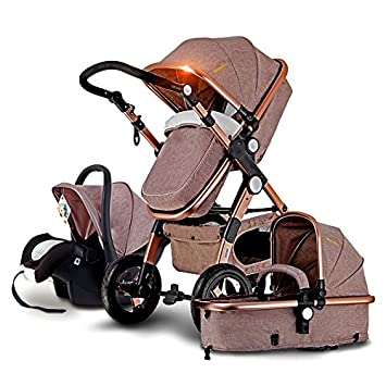Amazon Com European Baby Stroller 3 In 1 Baby Pushchair High