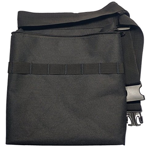 Epic Gear Black Metal Detecting Diggers Pouch with Interior pocket - Adjustable to fit up to 48