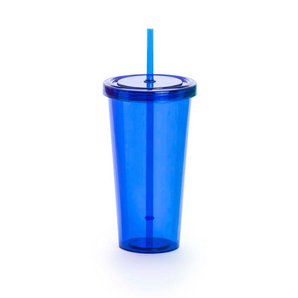 Ebuygb smoothie bicchiere con cannuccia, 680ml, Blu