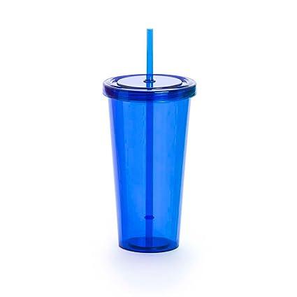 Recipientes para Batidos con Pajita - Zumos y Cafés Helados - Plástico sin BPA - De