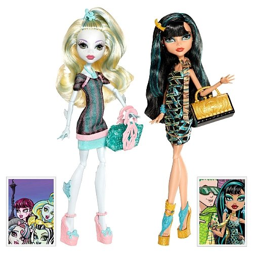 Monster High Scaris Exclusive 2-Pack Lagoona Blue & Cleo De Nile]()