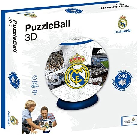 Real Madrid Puzzleball CF (Tamaño Balón) 8,4 (63690), Multicolor ...