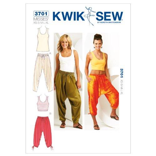 Kwik Sew K3701 Pants and Tops Sewing Pattern, Size XS-S-M-L-XL by KWIK-SEW PATTERNS