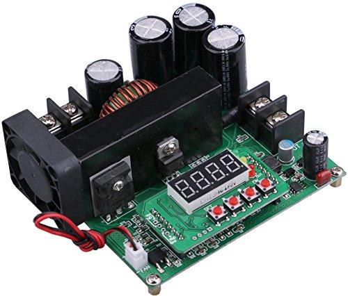 Yeeco Numerical Control Voltage Regulator DC Boost Converter Constant Voltage Current Step Up Module Adjustable 8-60V to 10-120V 15A Output 48V 24V 12V Power Supply with LED Display & Heatsink Fan