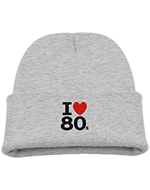Love 80s Child Cute Knit Beanie Cap Baby Wool Knitting Winter Spring Warm Soft