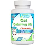 Particular Paws Cat Calming Aid - Passion Flower, Hops Flower Extract, Dextrose, Brewers Yeast, Calcium, Magnesium, Vitamin B6-60 Chewables