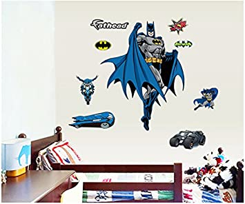 ENFANTS STICKERS MURAUX GRAND WS Batman AUTOCOLLANTS FILLES CHAMBRE DE MUR  CHAMBRE DECOR Décoration Sticker Adhesif