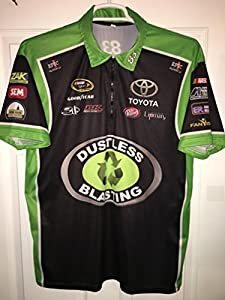 LARGE BK EPIC Racing Dustless Blasting Pit Crew Shirt Nascar Jersey TRD Race Used