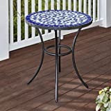 EG Essential Garden Clarksville Mosaic Bistro Patio Table