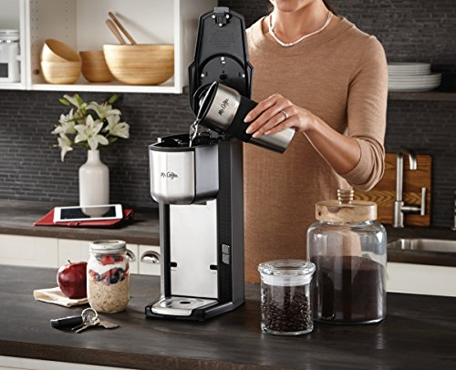 Mr. Coffee Grind n Brew Coffeemaker with Built-In Grinder and Travel Mug, SCGB200 Coffee Store