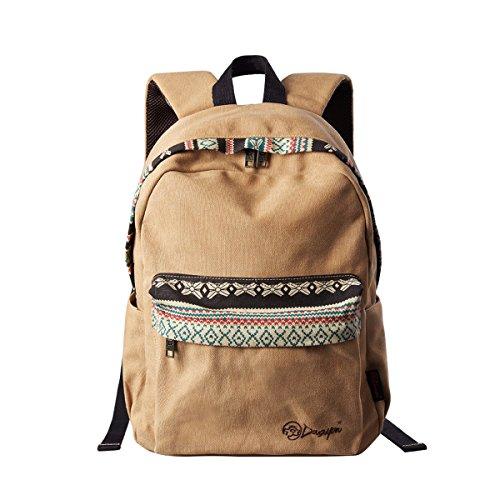 Travel Outdoor Computer Backpack Laptop bag middle (khaki) - 9