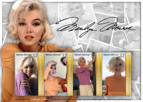 Marilyn Monroe - Famous Actress - Hollywood - Beautiful Collectors Stamps - Dominica